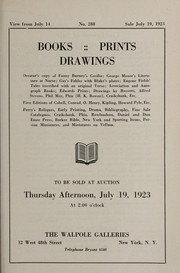 Cover of: Books, prints, drawings