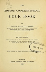 Cover of: The Boston cooking-school cook book | Fannie Merritt Farmer