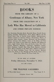 Cover of: Books; from the library of a gentleman of Albany, New York, from the collection of a lady who has moved to California, and other private sources