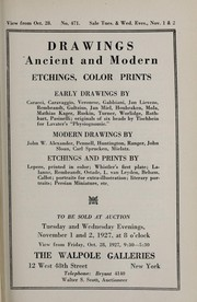 Cover of: Drawings ancient and modern, etchings, color prints