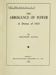 Cover of: The arrogance of power