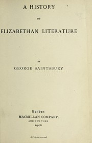 Cover of: Essays in english literature