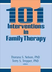 Cover of: 101 Interventions in Family Therapy Y | Thorana S. Nelson