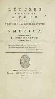 Cover of: Letters written during a tour through the northern and eastern states of America