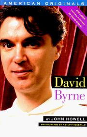Cover of: David Byrne (American Originals)
