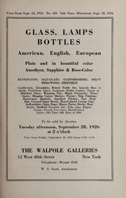 Cover of: Glass, lamps, bottles