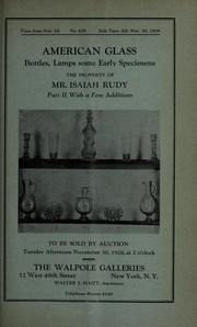 Cover of: American glass