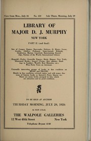 Cover of: Library of Major D.J. Murphy, New York