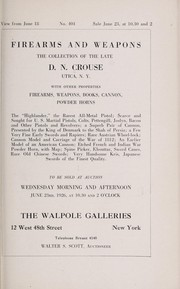 Cover of: Firearms and weapons