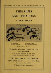 Cover of: Firearms and weapons, a few books, two old Spanish ship models ...