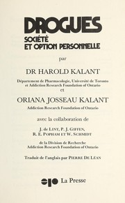 Cover of: Drogues, Socie te  et option personnelle