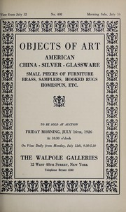 Cover of: Objects of art