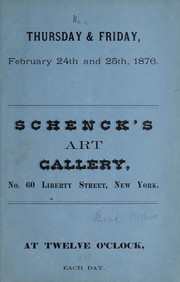 Cover of: [Catalogue of pictures] | Schenck Art Gallery