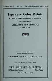 Cover of: Japanese color prints