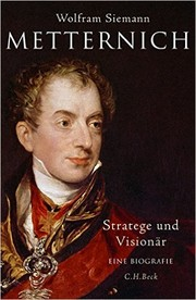 Cover of: Metternich
