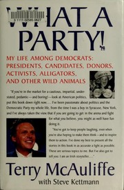 Cover of: What a party! : my life among Democrats | Terry McAuliffe