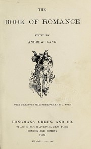 Cover of: The book of romance | Andrew Lang