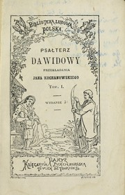 Cover of: Psa¿terz Dawidowy