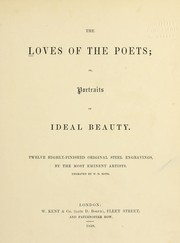 Cover of: The loves of the poets; or, portraits of ideal beauty |