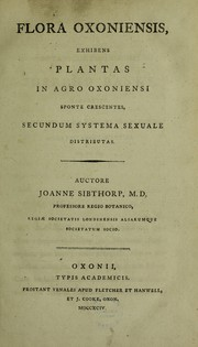 Cover of: Flora Oxoniensis