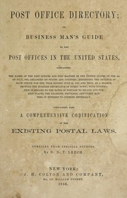 Cover of: Post Office directory | Daniel D. Thompkins Leech