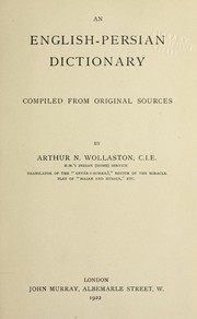 Cover of: An English-Persian dictionary