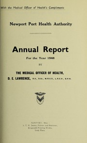 Cover of: [Report 1948] | Newport (Wales). Port Health Authority