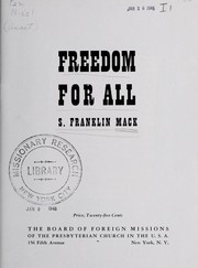 Cover of: Freedom for all | S. Franklin Mack