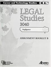 Cover of: Legal studies 3040 | Alberta. Alberta Education. Learning Technologies Branch