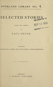 Cover of: Selected stories | Paul Heyse