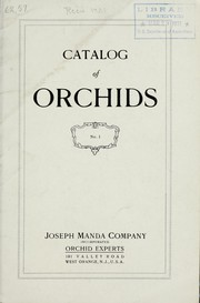 Catalog of orchids by Joseph Manda Company