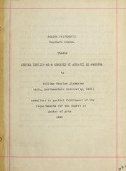 Cover of: Mental testing as a measure of ability in algebra | William Thurlow Alexander