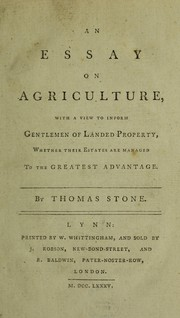Cover of: An essay on agriculture