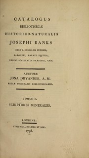 Cover of: Catalogus bibliothecæ historico-naturalis Josephi Banks
