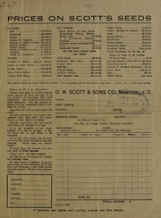 Cover of: Prices on Scott