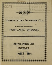 Cover of: Retail price list | Russellville Nursery Co