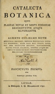 Cover of: Catalecta botanica | Albrecht Wilhelm Roth