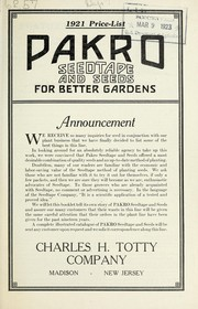 Cover of: Pakro seedtape and seeds for better gardens | Charles H. Totty (Firm)