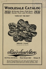 Cover of: Wholesale catalog of garden seeds, field seeds, garden tools and fertilizers | Sluis Seed Store