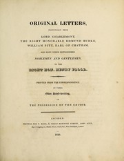 Cover of: Original letters
