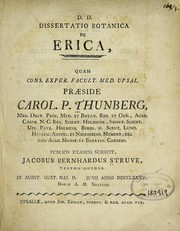 Cover of: Dissertatio botanica de erica ..