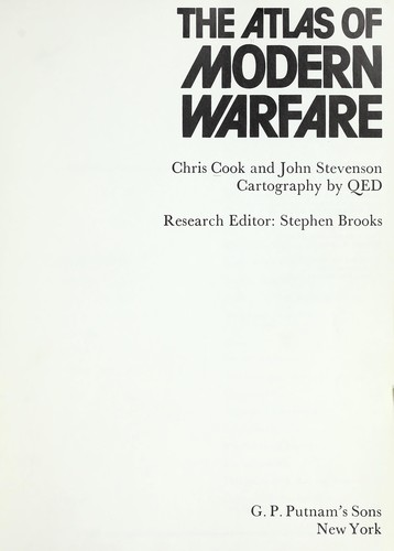 The atlas of modern warfare by Cook, Chris
