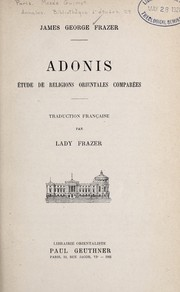 Cover of: Adonis