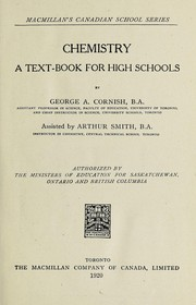 Cover of: Chemistry; a text-book for high schools | George A. Cornish