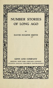 Cover of: Number stories of long ago