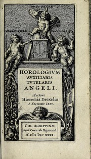 Cover of: Horologium auxiliaris tutelaris angeli