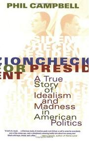 Cover of: Zioncheck for President
