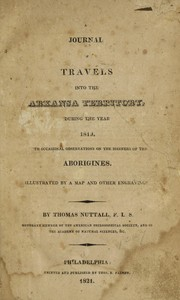 Cover of: A journal of travels into the Arkansa Territory, during the year 1819