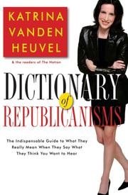 Cover of: Dictionary of Republicanisms