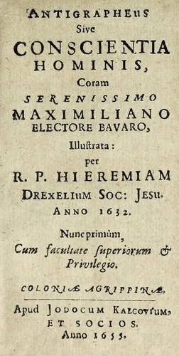 Antigrapheus, sive, Conscientia hominis